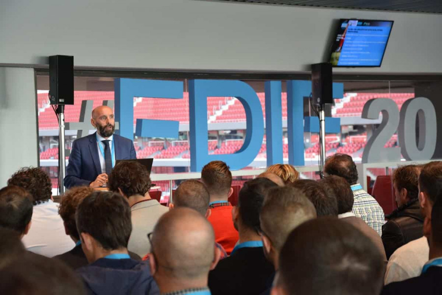 Monchi (Sevilla FC sporting director) at the Football Data International Forum 2020