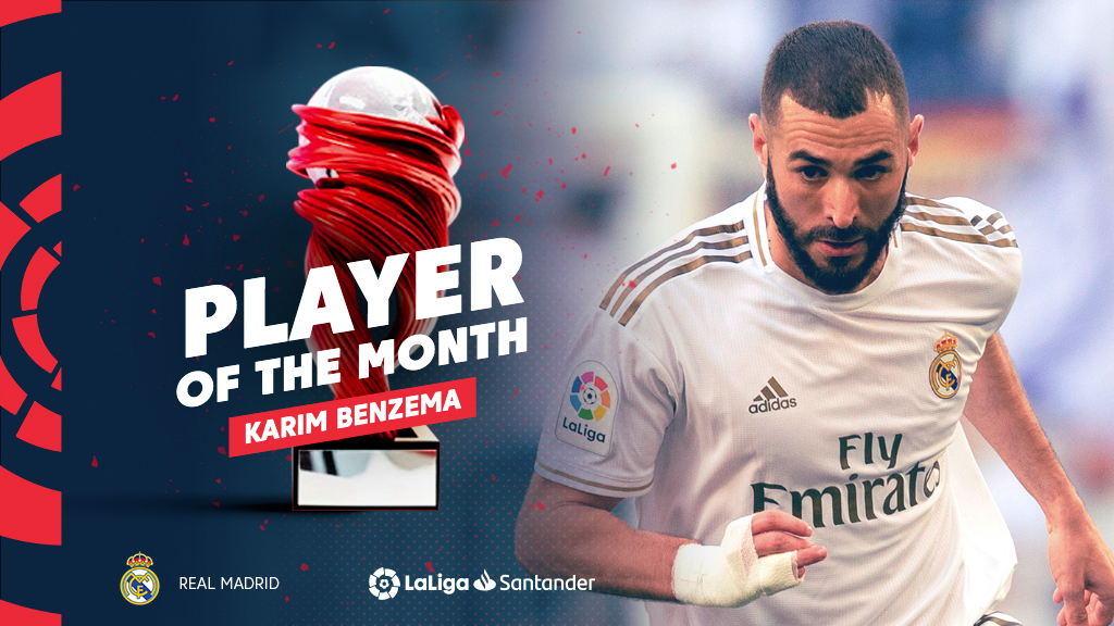 Karim Benzema, June Player of the Month in LaLiga Santander