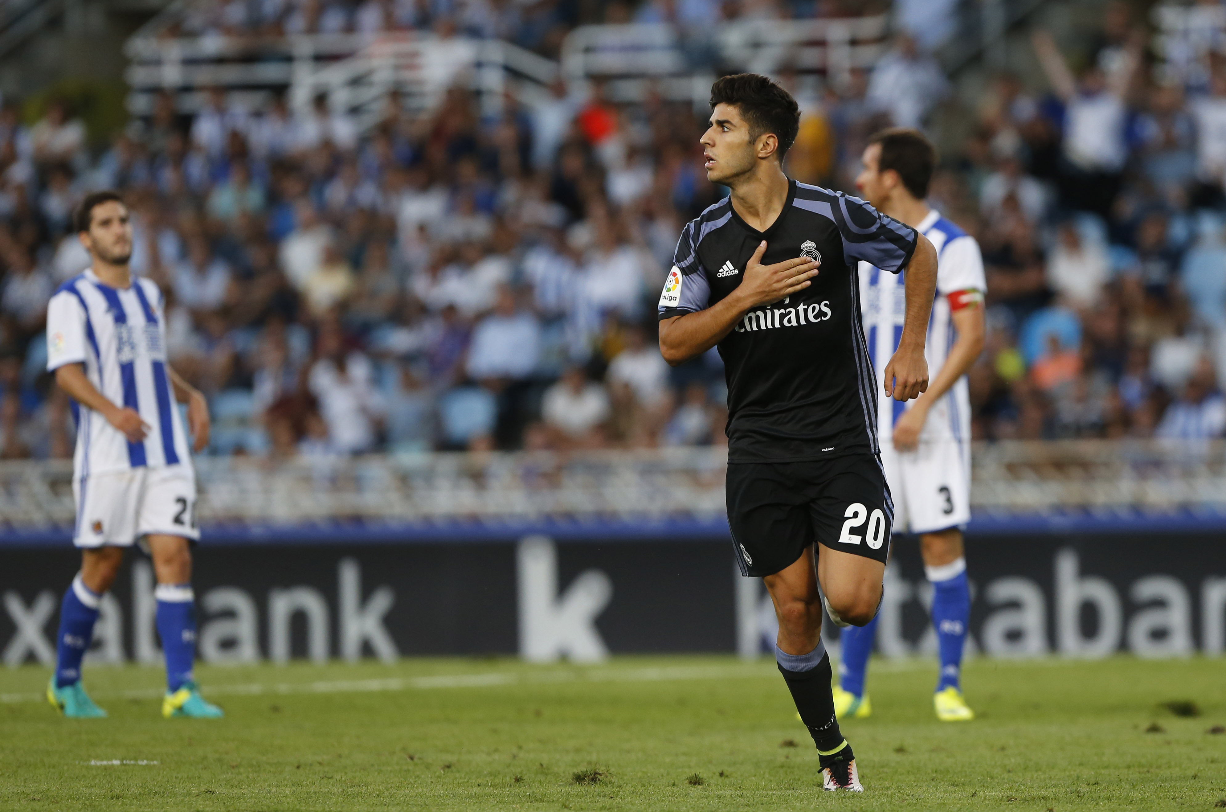 Marco Asensio scored on his LaLiga debut for Real Madrid