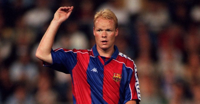 Ronald Koeman as a Barcelona player in the 1990s